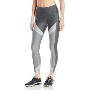 UNDER ARMOUR Gray Color Block Ankle Tight